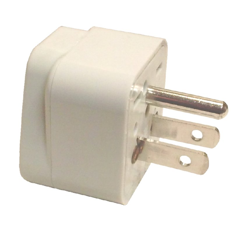 110V PLUG ADAPTER WITH GROUND POWER - UNIVERSAL RECEIVER - US STANDARD